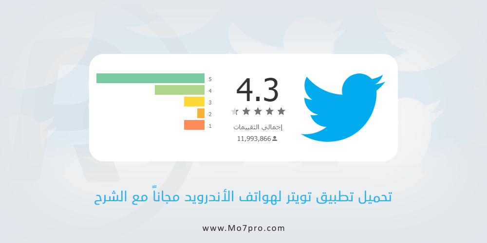 تحميل تويتر عربي مجانا لهواتف الأندرويد أخر إصدار Download Twitter